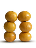 Two stacks of mandarins Royalty Free Stock Image
