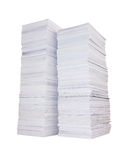 Two stacks of paper Royalty Free Stock Photography