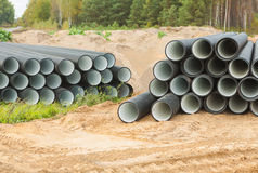 Two stacks of pipes Royalty Free Stock Photography