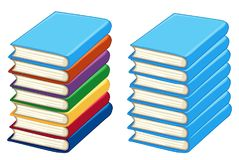 Two stacks of thick books royalty free illustration