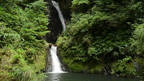 Two stage narrow waterfall