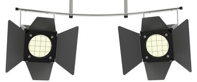 Two stage spotlights looking to the viewer Royalty Free Stock Photography