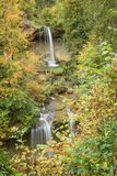 The two stages of the Scheidegger waterfall Royalty Free Stock Photo