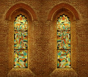 Two Stained Windows Royalty Free Stock Photography