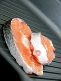 Two stakes of salmon Stock Image