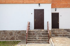 Two standart house doors Stock Photography