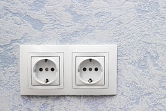 Two standart sockets Stock Images