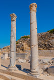 Two standing marble columns in Greece Royalty Free Stock Photography