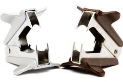 Two Staple Removers Royalty Free Stock Photo