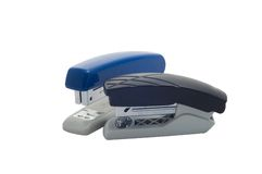 Two stapler isolated Royalty Free Stock Images