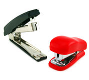 Two staplers. Isolated on a white background Royalty Free Stock Image