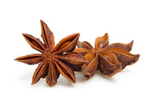 Two star anise in closeup Stock Image