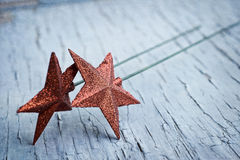 Two star decorations Stock Image