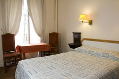 Two star hotel room paris france Stock Photo