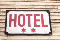 Two Star Hotel Royalty Free Stock Photography
