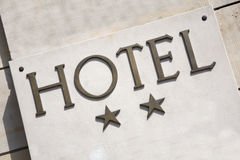 Two Star Hotel Sign Stock Images