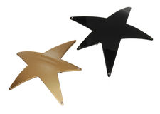 Two star shaped hairpins Stock Images
