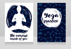 Two Starry Cards For Yoga Studio Stock Image