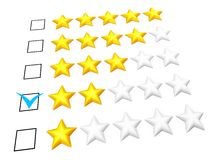 Two stars rating Royalty Free Stock Photo