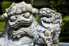 Statue of Chinese Foo Dog Royalty Free Stock Images