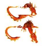 Two statues dragons of jasper Stock Photo
