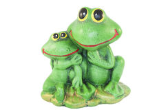 Two statues of frogs Stock Photo