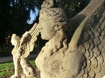 Two statues of sphinxes in Rome Stock Photography