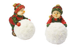 Two statuettes snowman Royalty Free Stock Photos