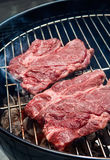 Two steaks on grill Royalty Free Stock Images