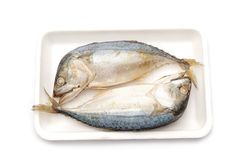 Two of steamed mackerel Stock Photo