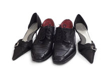 Two steams shoes Royalty Free Stock Images