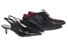 Two steams shoes Stock Photography