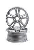 Two steel alloy car rims. Royalty Free Stock Image