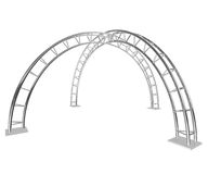 Two steel arch. 3D render Maya mental ray royalty free illustration