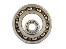 Two steel ball bearings Royalty Free Stock Photo