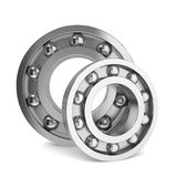 Two steel bearings Stock Photos