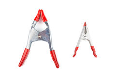 Two steel clamps Royalty Free Stock Photo