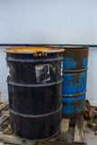 Two steel drums Stock Photo