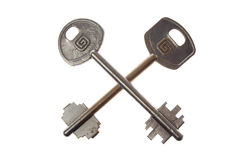 Two steel key Royalty Free Stock Image