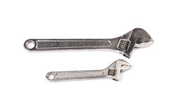 Two Steel Monkey Wrenches Stock Image
