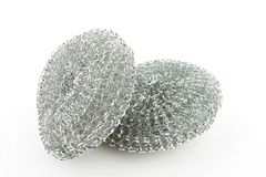 Two steel scourers. Royalty Free Stock Image