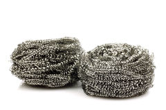 Two steel wire scrubs Stock Photos