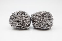 Two steel wool Royalty Free Stock Photo