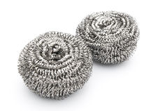 Two steel wool dishwashing Royalty Free Stock Images