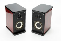 Two stereo audio speakers on white background Stock Photography