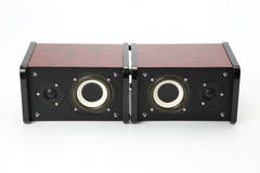 Two stereo audio speakers on white background Stock Photo
