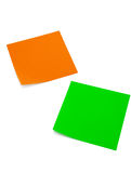 Two stickers. Two colored stickers on the white background Stock Image