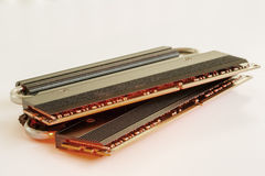 Two Sticks of RAM with a Red Glow (Represent over heating). Stock Photography
