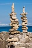 Two Stone Figures stock image