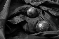 Two stone spheres Stock Photography